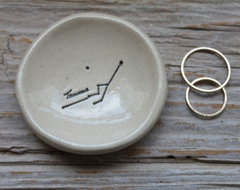Taurus Zodiac Constellation Pottery Ring Dishes - 1-2 weeks for delivery
