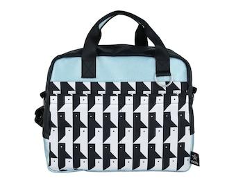 Faces Diaper Bag ,New collection, Modern diaper bag,Designer messenger bag, Nappy bag, tote bag, StarJelly,Vegan , unisex bag