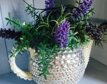 Sequin tea pot plant holder