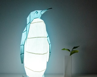 Emperor Penguin - DIY Paperlamp ( pre-cut papercraft kit, DIY paper lamp )