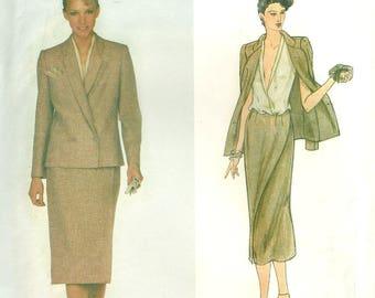 Jacket Skirt Blouse Pattern 1970's Uncut Bust 34 Vogue 2219 American Designer John Anthony Size 12