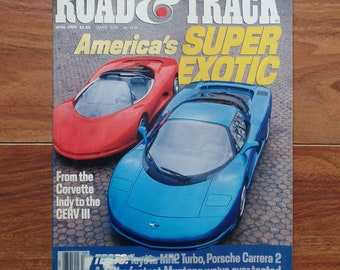 Road & Track Magazine April 1990 America's Super Exotic