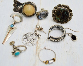 8pc Most Sterling Jewelry lot Reuse