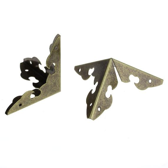 Set of 2 corners / angle - bronze - size: 29 mm