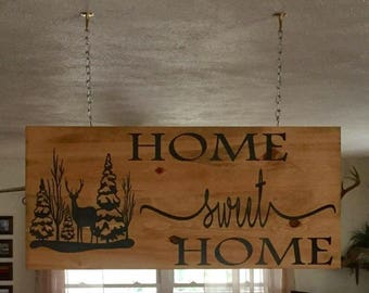 Home Sweet Home - Living Room Decor - Front Porch Decor - Farmhouse Decor - Handpainted