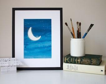 On the Moon - unframed print