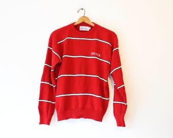 Vintage Red Indiana University Hoosiers Sweater
