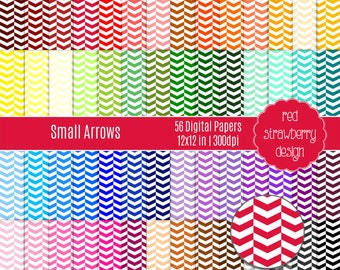 75% OFF Sale - 56 Digital Papers - Small Arrows - Instant Download - JPG 12x12 (DP290)