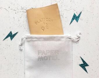 Passport Holder - Quote - Harry Potter Passport Case - Hogwarts Cover - Platform 9 3/4 - Passport Case - Travel Gift - Friend Gift -Muggles