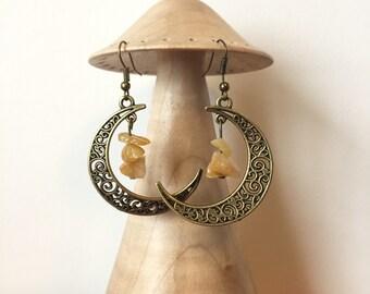 Topaz Moon Earrings