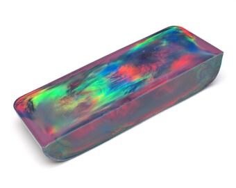 Aurora Opal - 98.00 g, Rough Opal, Multicolored Opal for Opal Jewellery, Opal Carvings or Opal Inlays (Lab Created Opal, Orange Opal)