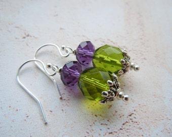 Scottish Thistle Earrings, Scottish Earrings, Scottish Gift, Sterling Silver, Gift For Bride, Crystal Earrings, Bride Earrings, Bridesmaid