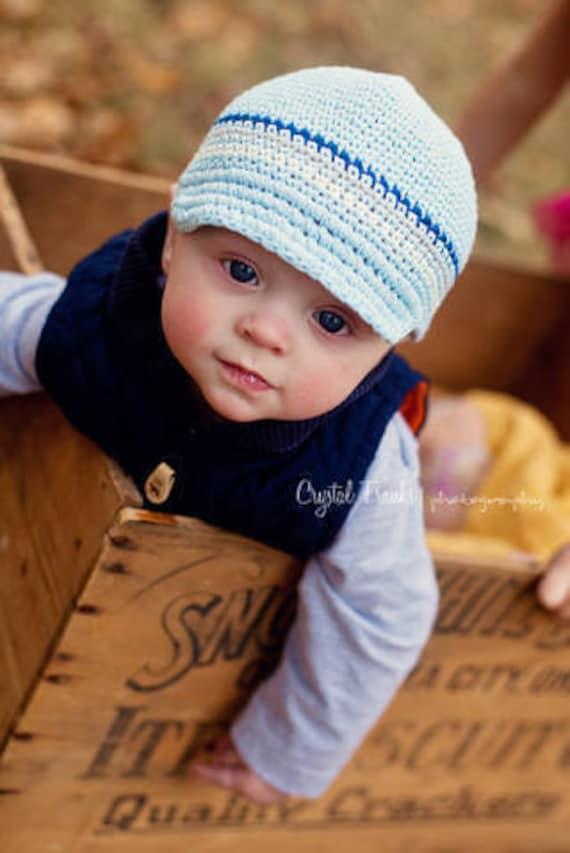 knitted newborn baby boy hats newsboy photos