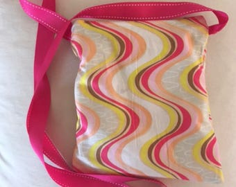 Waves of Color Cross-Body Bag
