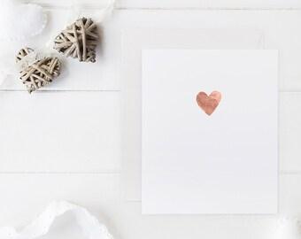 Handprinted Foil Heart Card