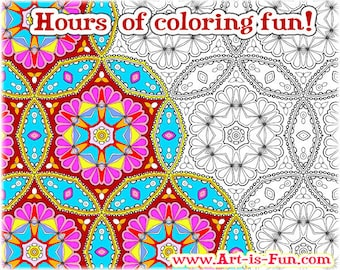 Abstract Patterns Coloring Pages PDF