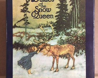 Dulac's The Snow Queen and Other Stories by Hans Christian Andersen illustrated by Edmund Dulac 1976 1st US edition // fairytale book