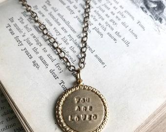 Vintage Inspired Brass Circle Pendant