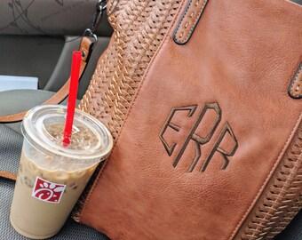Woven Rustic Monogram Tote | Monogram Purse | Handbag | Monogrammed Purse | Monogram Crossbody | Personalized Bag | Personalized Purse