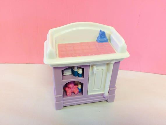 Vintage Fisher Price Dollhouse Furniture Baby Changing