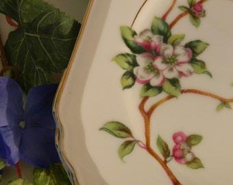 Set of 5 Vintage Gold Coast China Apple Blossom Luncheon Plates