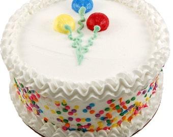 """Fake Cake Display Celebration White 9"""""""