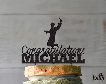 Customizable Graduation cake topper- Graduate Cake Topper- Personalized Graduation Cake Topper - Grad party cake topper- graduation party