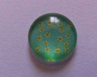 12mm cabochon, glass cabochon, cabochon flower, various patterns