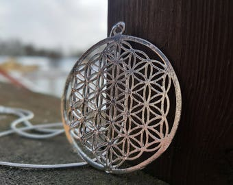 Flower of Life Pendant With Sterling Silver Chain
