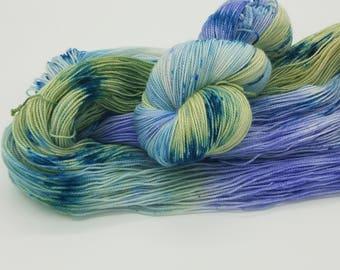 Hand Dyed Superwash Merino Nylon Wool Sock Yarn, hand dyed yarn, hand painted yarn, sock yarn, yarn, verigated yarn,