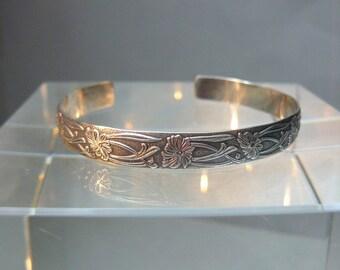 Sterling Silver Botanical Bracelet