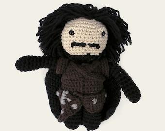 Jon Snow - Game of Thrones. Amigurumi Pattern PDF, DIY, Crafts, Crochet Pattern, Winterfell, The Wall, Stark, Doll, Geek Gift, TV, Series