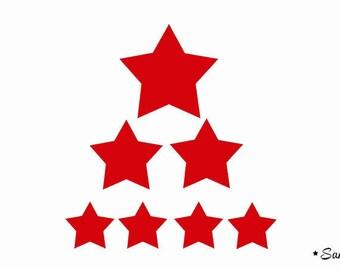 7 red stars flex hot-melt