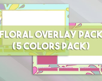 Floral Overlay Pack - 5 Colors