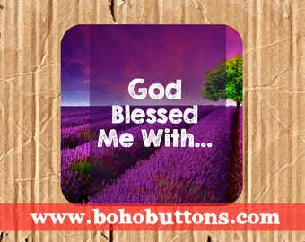 God Blessed Me With Square Vinyl Sticker, Christian Sticker, Love Decal, Christian Decal Sticker, Bumper Sticker, Laptop Decal, Ministry