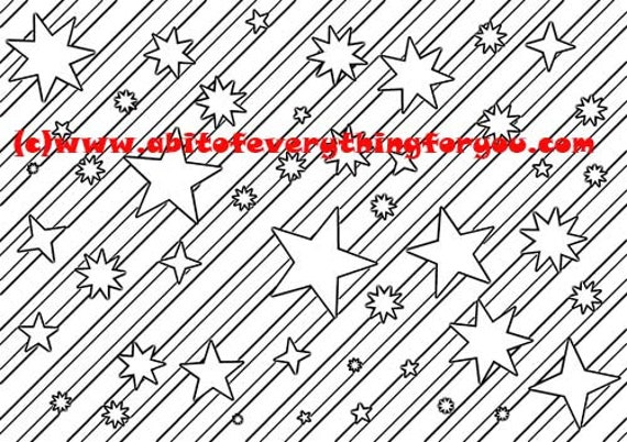 stars stripes pattern art coloring page printable art download digital colouring pages shapes image graphics