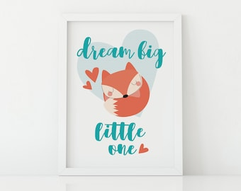 Dream Big Little one-poster-small room for children and babies-Fox