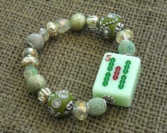 Cadeau Bracelet - Jesse James Mahjong - Mahjong pour son Bracelet Oriental de cadeau - bijoux Mahjong - Mahjong - bijou Oriental-