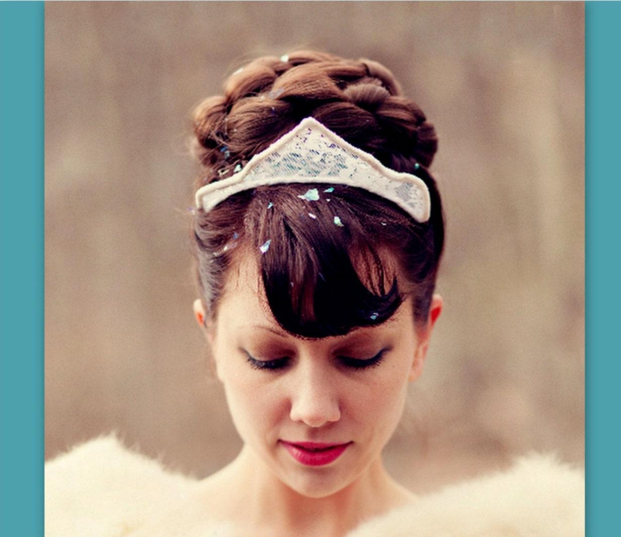 wedding hairpiece bun hair style accessory large Bridal hair