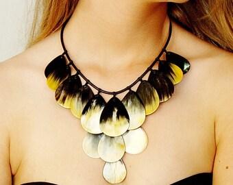 Buffalo Horn Boho Necklace, ethnic necklace, african necklace, horn jewelry, boho jewelry, tribal necklace, horn necklace AA 006