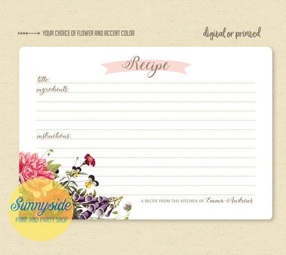 personalized recipe card