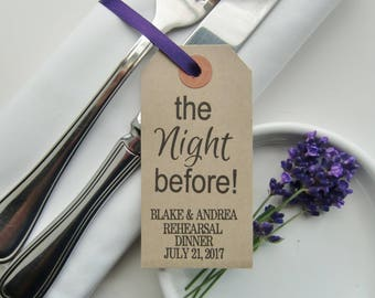 Wedding Rehearsal Dinner Table Decor-Rehearsal Ideas-Personalized Rehearsal Decorations-Rehearsal Napkins-THE NIGHT BEFORE!!-Weddings