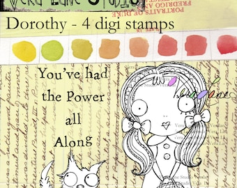 Dorothy and Toto digi stamp set available for instant download