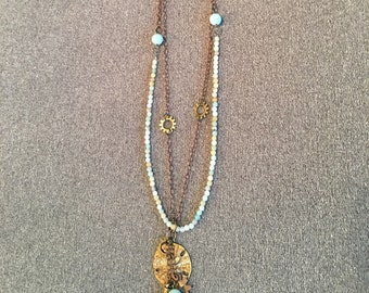 Sand and Sea beaded necklace
