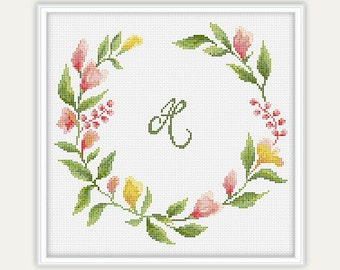 Floral Cross Stitch Pattern - Gift - Embroidery - Home Décor - PDF - INSTANT DOWNLOAD