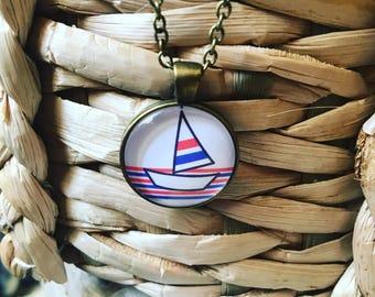 Boat pendant necklace SALE