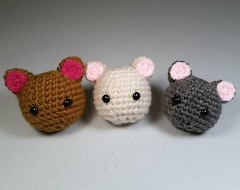 Cat Amigurumi, Crochet Cat, Cat Plushie, Cat Plush, Kawaii Cat, Mini Cat Head, Round Cat, Neko Amigurumi, Little Animal Plush, Little Cat