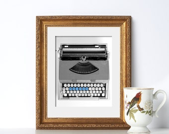 Typewriter Digital Download Printable Art Office Decor Typography Prints Gift for Writers Gifts for Authors Office Prints Home Office Decor