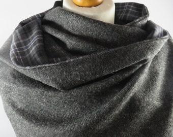 Inspired by outlander cloak.  Scotland Forever Ancient tartan. Grey tweed wrap. Voyager cloak. JAMMF cloak. Alexander Malcom's cloak.