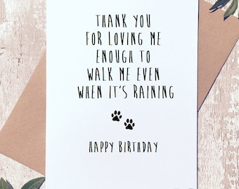 Funny Happy Birthday Card From The Dog Day For Dad